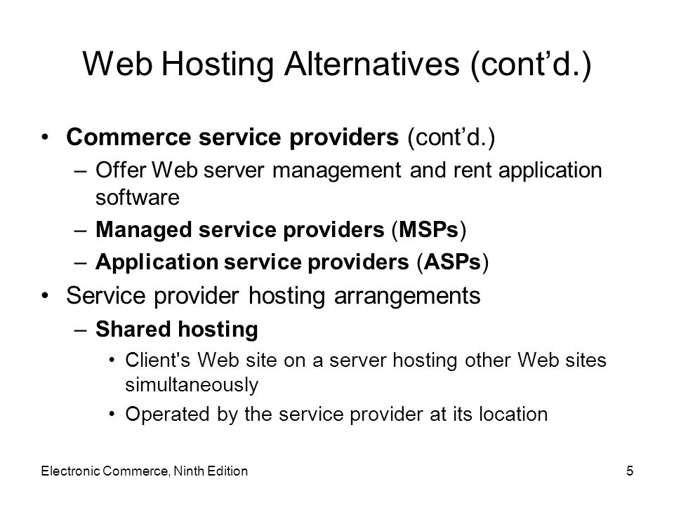 Web Services (cont'd.) Atom Publishing Protocol –Most widely used RESTful application –Blogging application simplifying blog publishing process Making its functions available as a Web service Allowing other computers to interact with blog content More information –RestWiki site –ProgrammableWeb site Electronic Commerce, Ninth Edition46