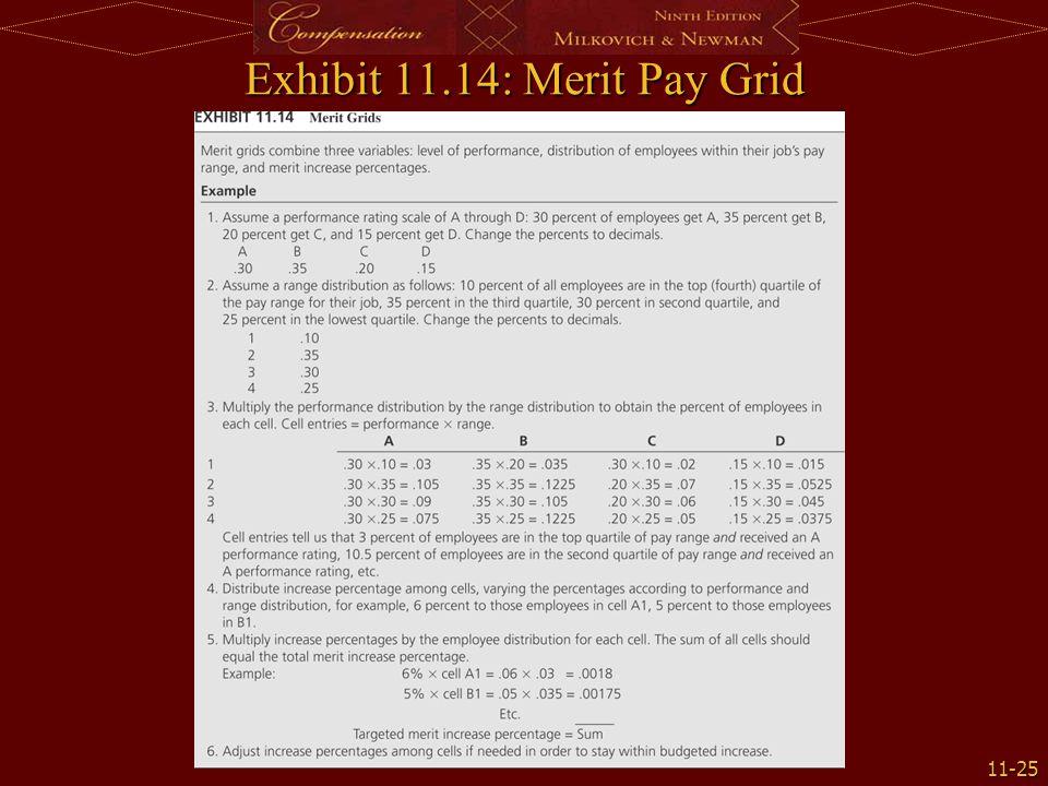 11-25 Exhibit 11.14: Merit Pay Grid