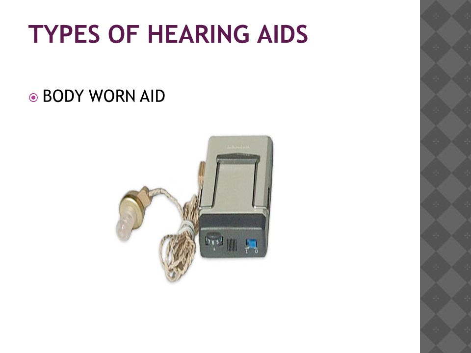 TYPES OF HEARING AIDS  BODY WORN AID