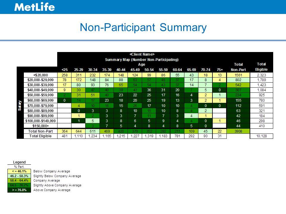 Non-Participant Summary
