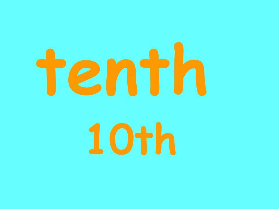 tenth 10th