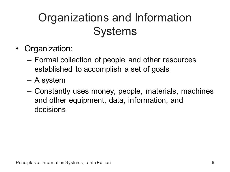 Principles of Information Systems, Tenth Edition37 Performance-Based Information Systems Major stages in the use of information systems: –Cost reduction and productivity –Competitive advantage –Performance-based management