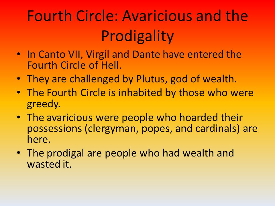 Fifth Circle: Wrath and Sullenness Canto VIII begins with Dante and Virgil arriving at Styx, a marsh filled with the souls of the angry and the sullen.