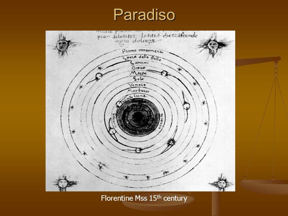 Paradiso Florentine Mss 15 th century