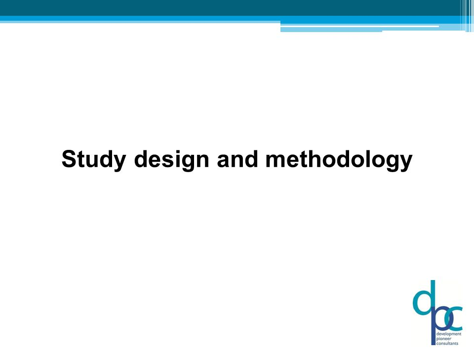 Study design and methodology