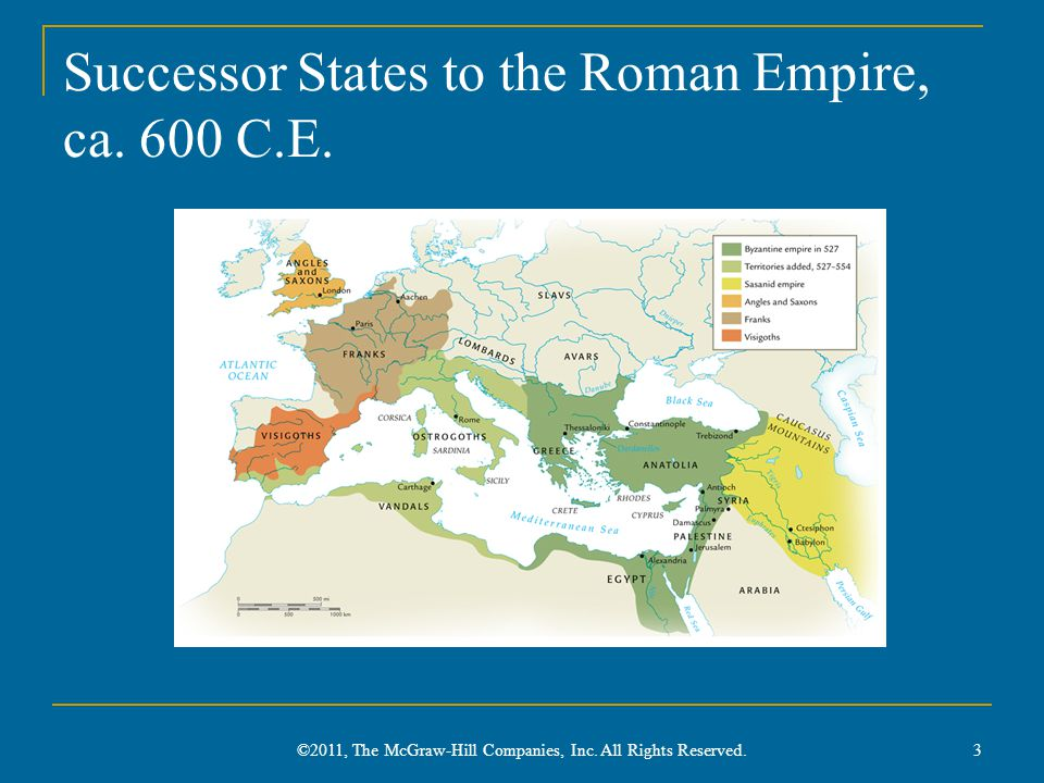 Successor States to the Roman Empire, ca.600 C.E.
