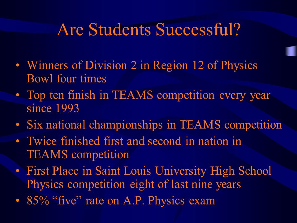 Are Students Successful.