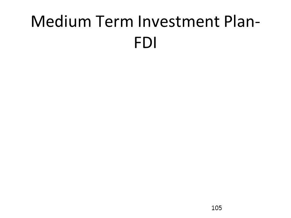 Medium Term Investment Plan- FDI 105