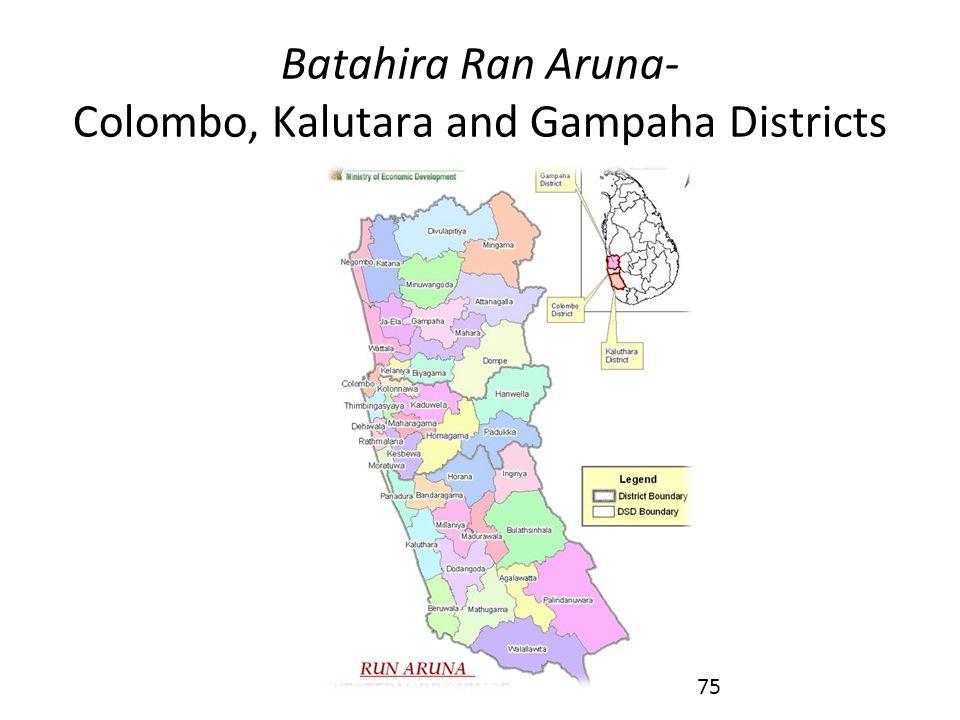 Batahira Ran Aruna- Colombo, Kalutara and Gampaha Districts 75