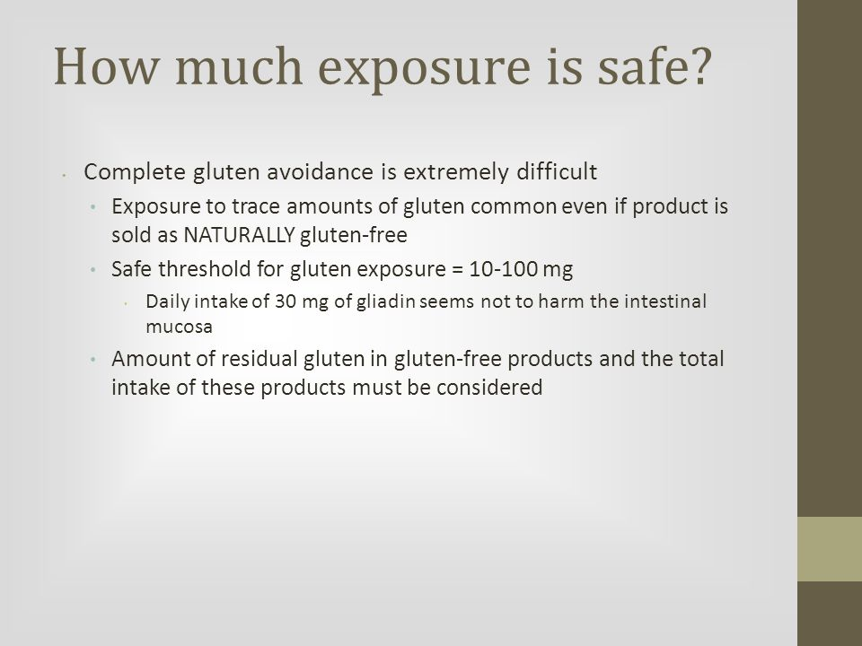 How much exposure is safe.