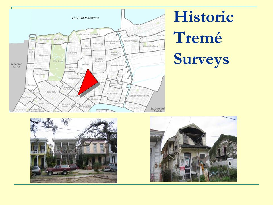 Historic Tremé Surveys