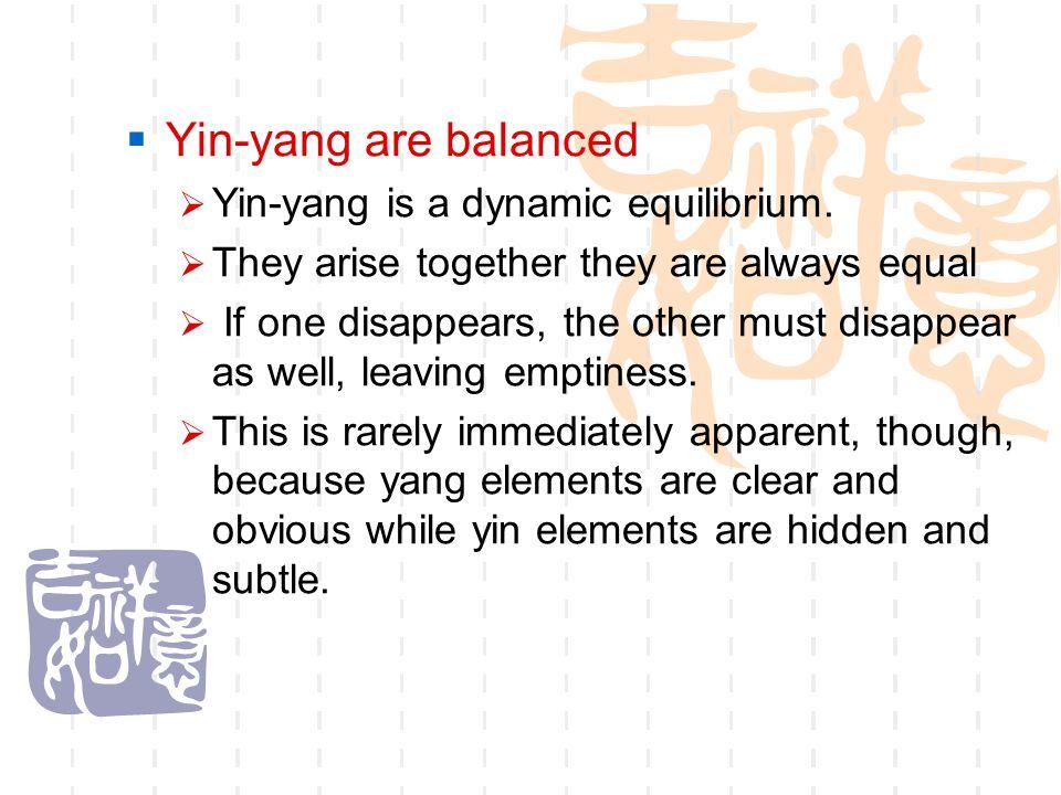  Yin-yang are omnipresent e.g.