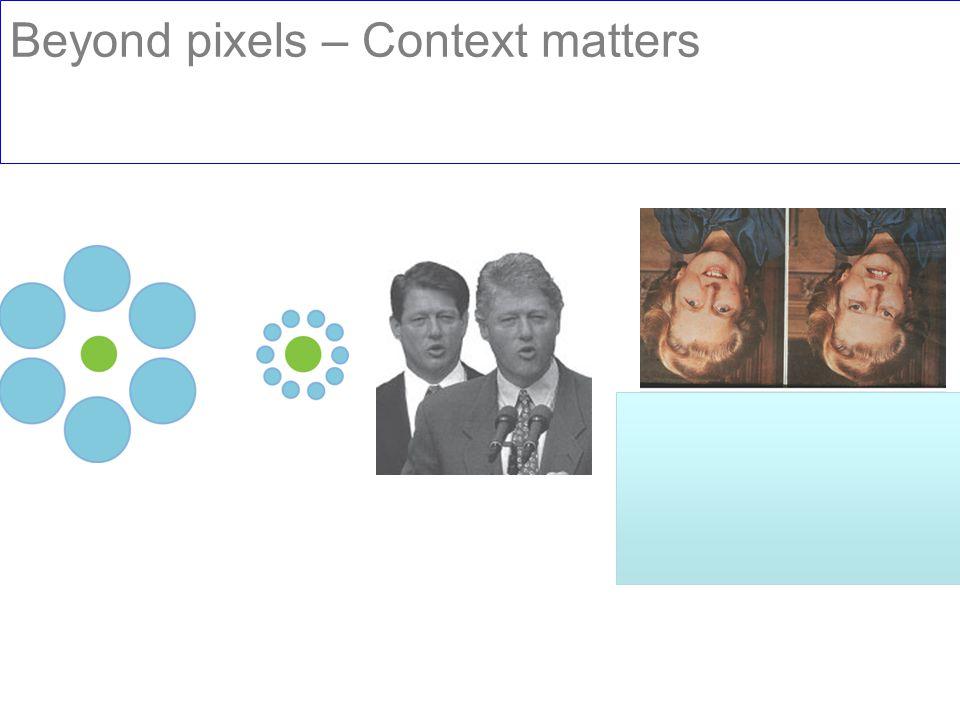 Beyond pixels – Context matters