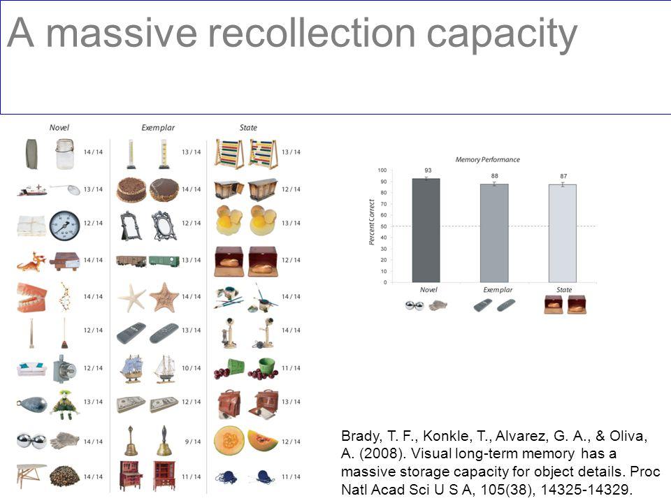 A massive recollection capacity Brady, T. F., Konkle, T., Alvarez, G.