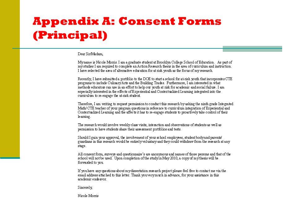 Appendix A: Consent Forms (Principal)