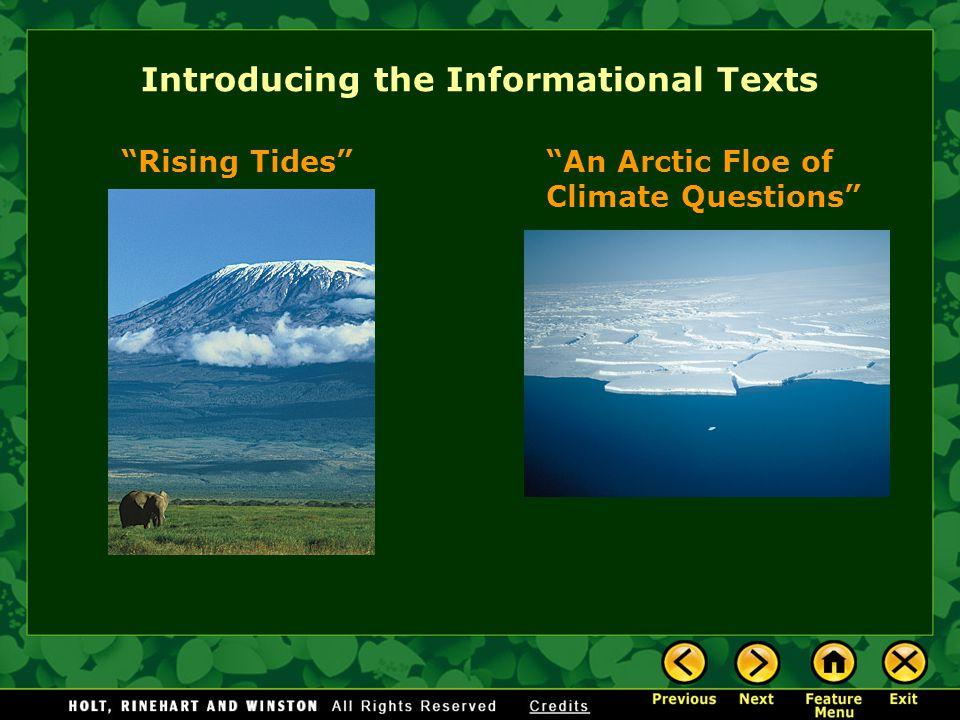 Rising Tides Many scientists believe that global warming has increased the earth's temperatures.