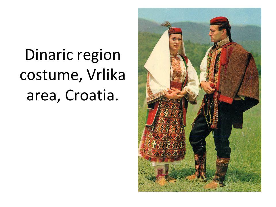 Dinaric region costume, Vrlika area, Croatia.