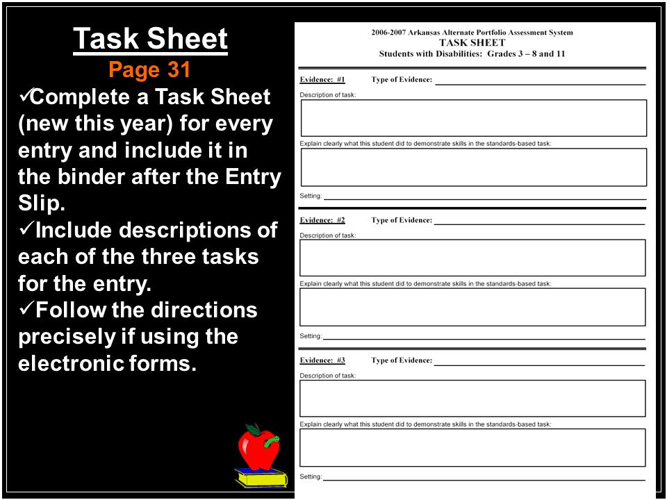 Sample Completed Entry Slip Page 18-19