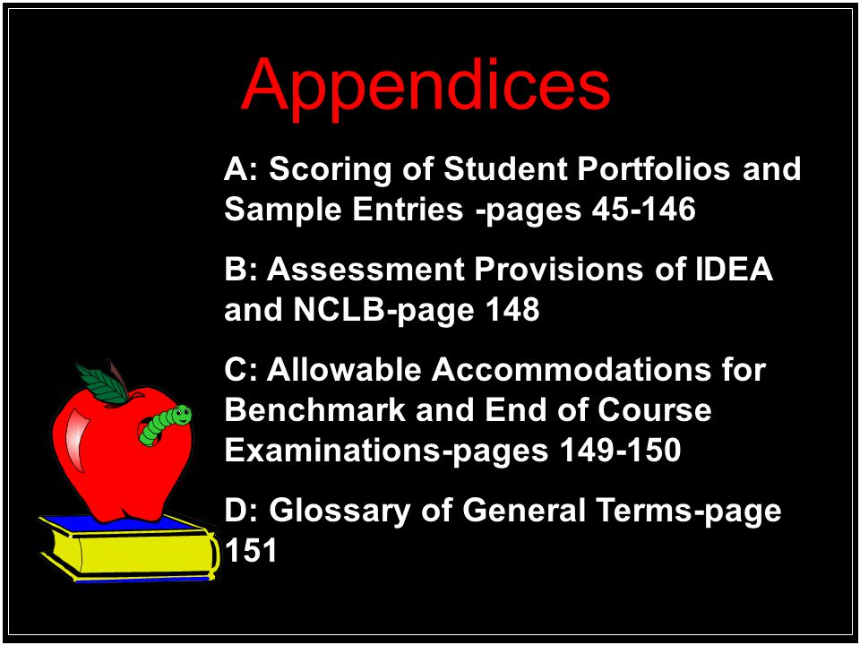Appendices E: Arkansas English Language Arts Curriculum Framework-pages 155-194 F: Arkansas Mathematics Curriculum Framework- pages 195-230 G: Arkansas Science Curriculum Framework pages- pages 231-242 H: Arkansas District and School LEA Numbers Page 243-262