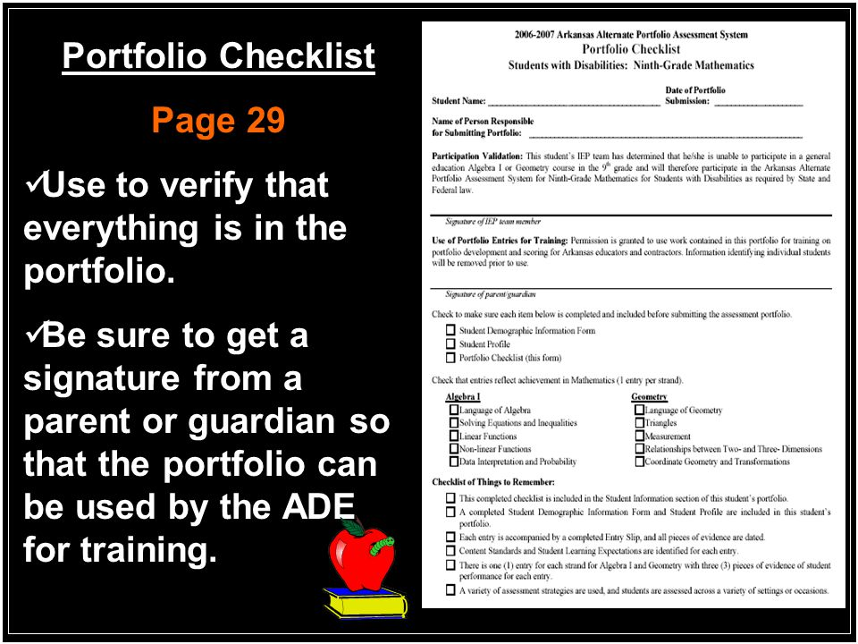 Entry Slip SWD: Ninth Grade Mathematics Page 25 Follow all instructions precisely in order to avoid errors in completing the forms.