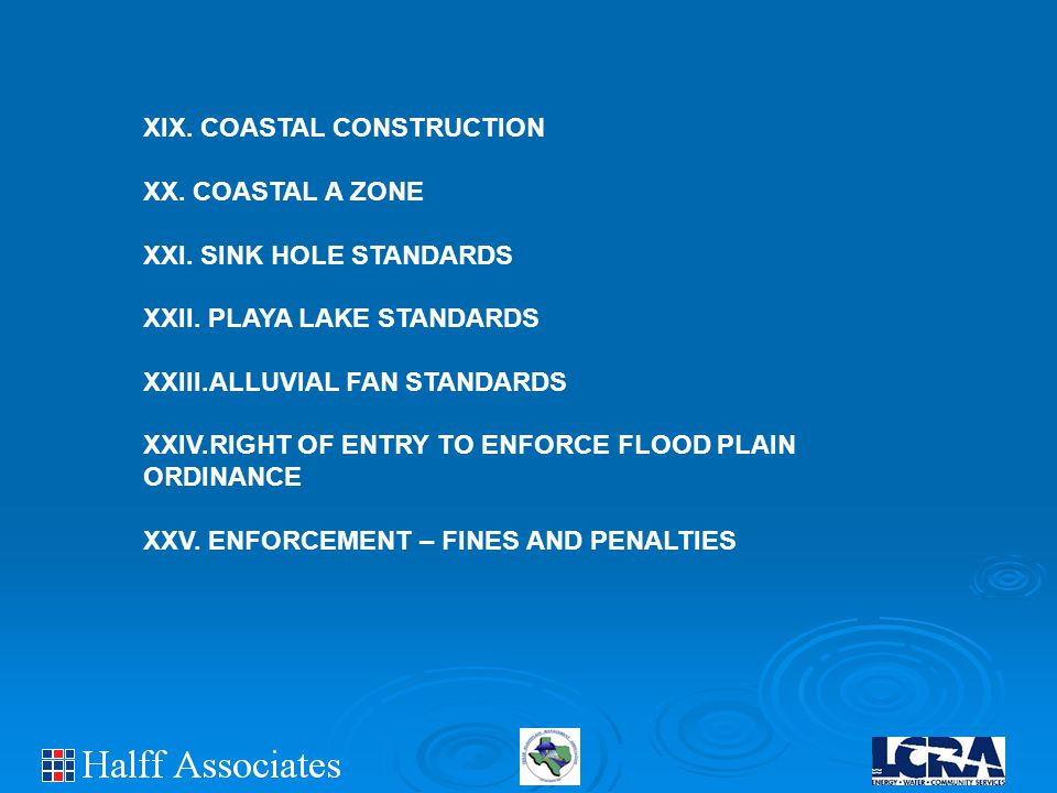 XIX. COASTAL CONSTRUCTION XX. COASTAL A ZONE XXI.