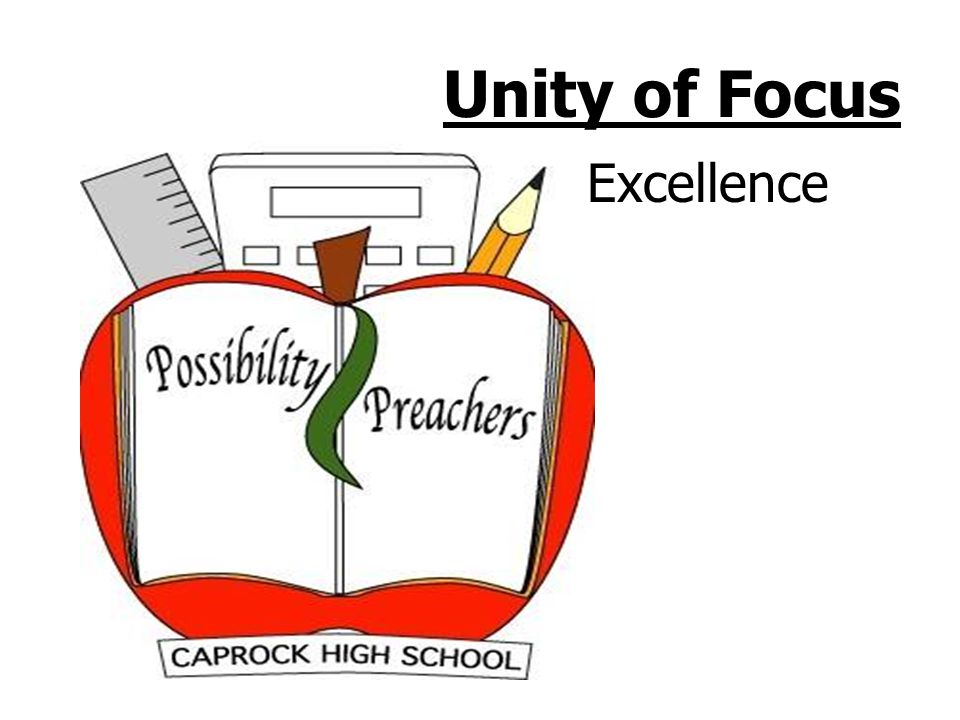 Unity of Focus Core Academic Learning Achievement driven by required six week formative assessments in core subjects TAKS commended Percentage of students who achieved Commended status between 2004 and 2005 English Language Arts from 4% to 8% Math from 5% to 6% Science from 1% to 3% Social studies from 12% to 18% CTE and elective teachers develop D level lessons 9 th goal is to academically graduate to 10 th 2% retained in 2005 90% graduation rate TAKS special education passing rate increased English Language Arts from 20% to 76% Math from 22% to 58% Science from 50% to 63% Social studies from 79% to 81% Senior TAKS passing strategies Student Academic Support System Credit recovery Math and Science TAKS interventions Mandatory Tutorials Extended day, extended year Community mentors Individual graduation plans Freshman flex days Success contracts