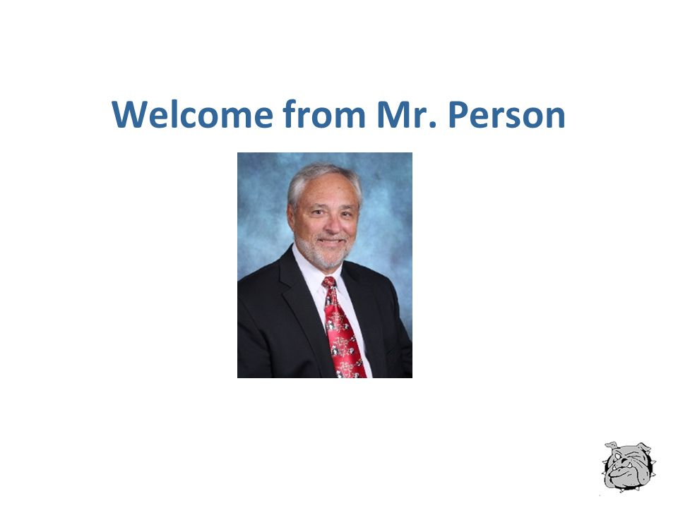 Welcome from Mr. Person