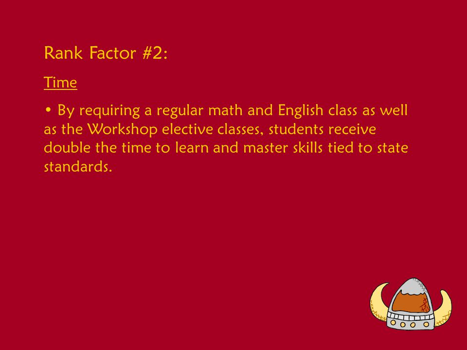 Rank Factor #3: Monitoring All students are monitored on an on-going basis.