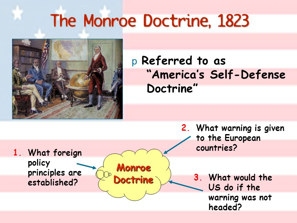 The Monroe Doctrine, 1823 3.What would the US do if the warning was not headed.