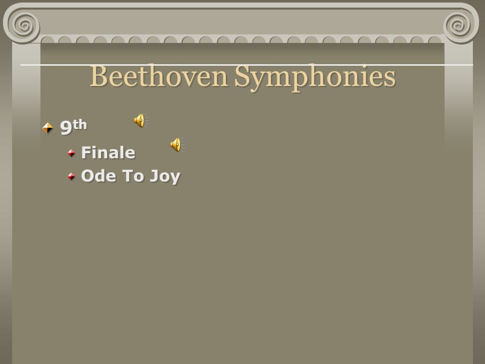 Beethoven Symphonies 9 th Finale Ode To Joy 9 th Finale Ode To Joy