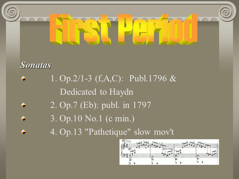 Sonatas 1.Op.2/1-3 (f,A,C): Publ.1796 & Dedicated to Haydn 2.