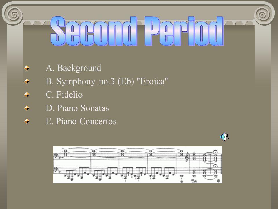 A.Background B. Symphony no.3 (Eb) Eroica C. Fidelio D.