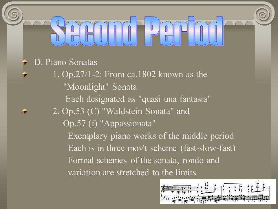 D.Piano Sonatas 1.