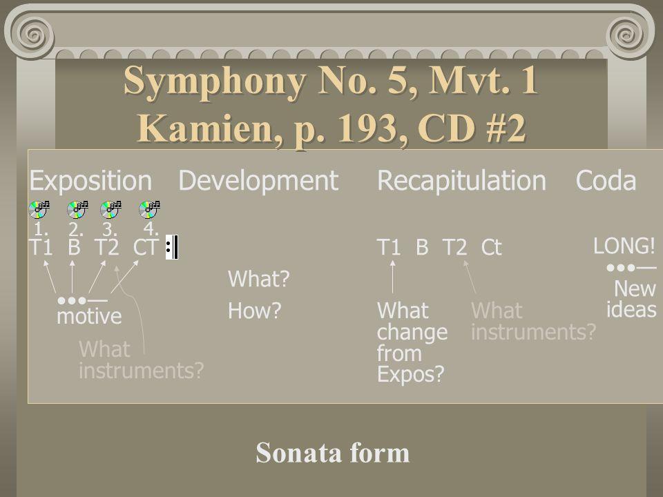 Symphony No.5, Mvt. 1 Kamien, p.