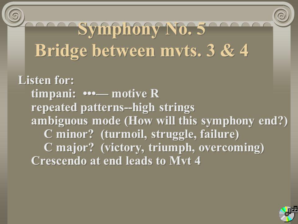 Symphony No.5 Bridge between mvts.