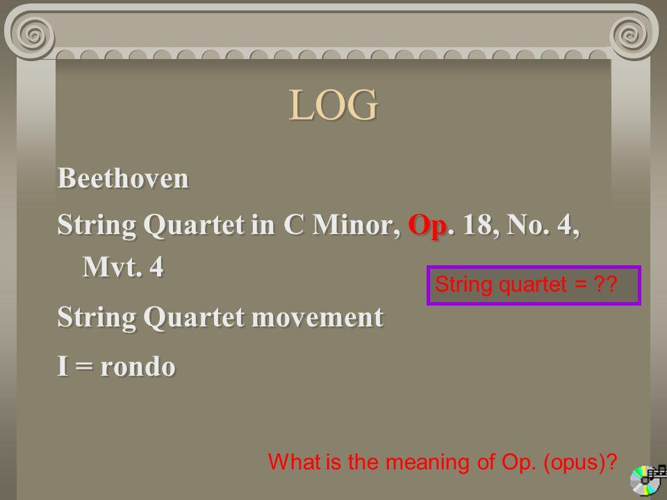 LOG Beethoven String Quartet in C Minor, Op.18, No.