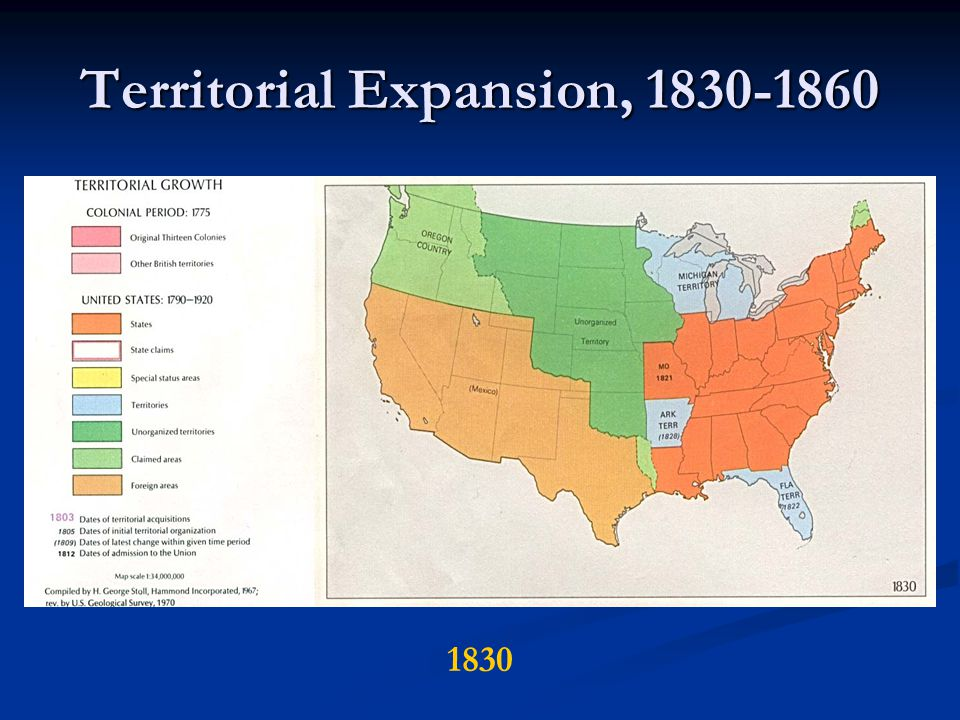 Territorial Expansion, 1830-1860 1830