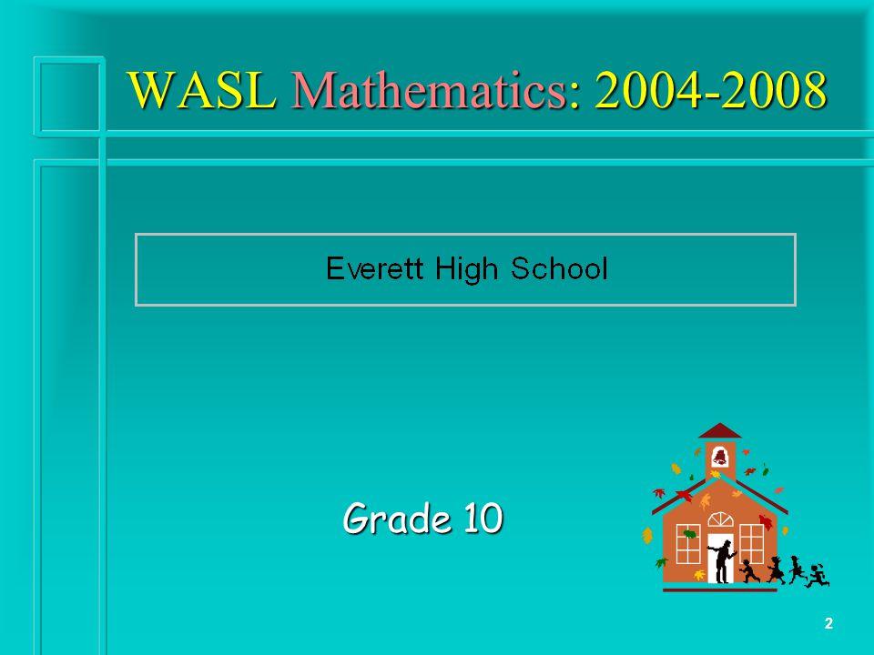 2 WASL Mathematics: 2004-2008 Grade 10