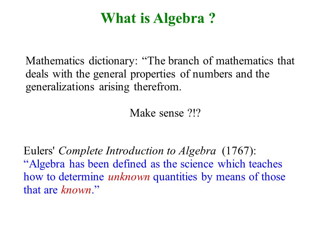 What is Algebra .