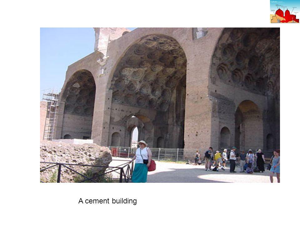 A cement building