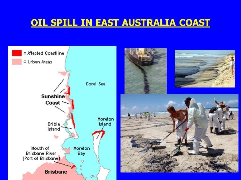 OIL SPILL IN EAST AUSTRALIA COAST