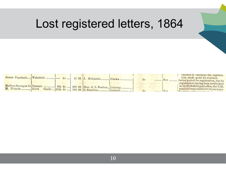 Lost registered letters, 1864 10