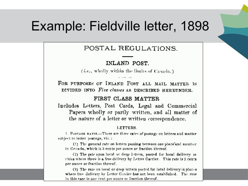 Example: Fieldville letter, 1898 15
