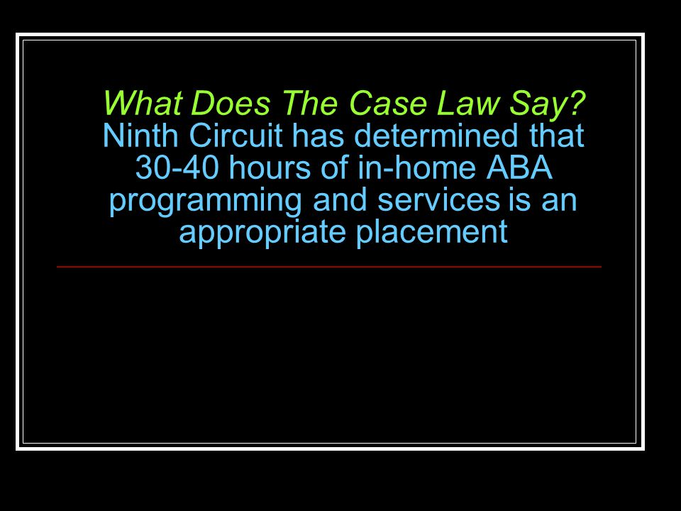 What Does The Case Law Say.