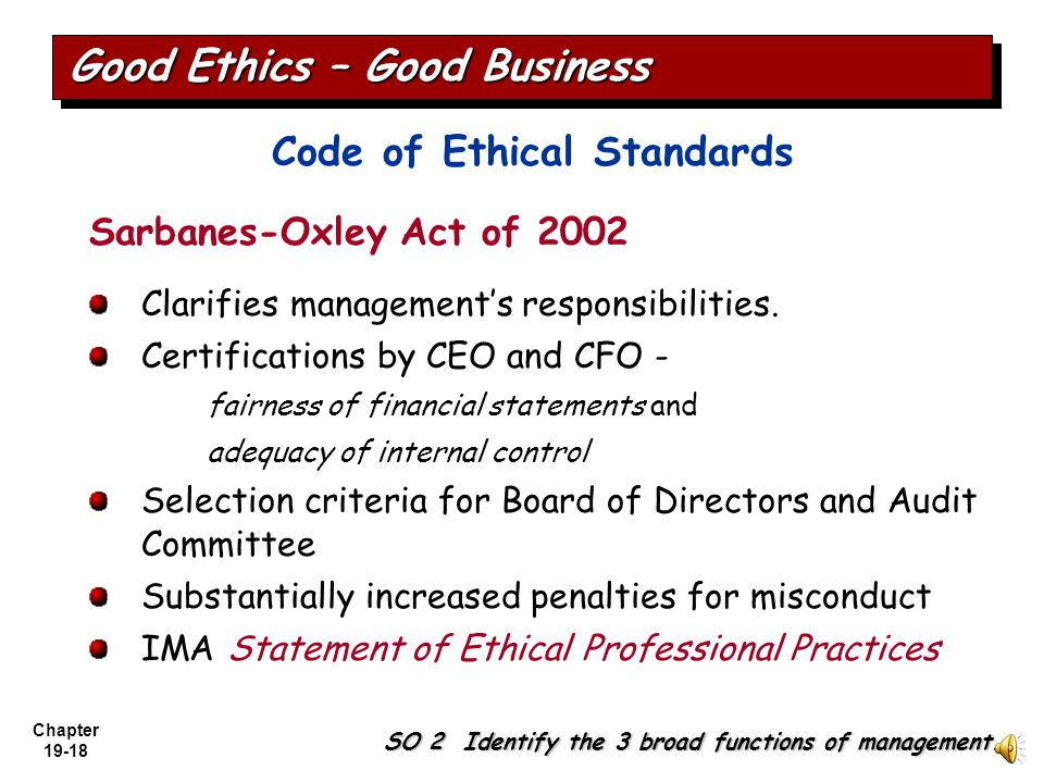 Chapter 19-17 Creating Proper Incentives Systems to monitor and evaluate employees may produce incentives for unethical actions. Employees may feel th