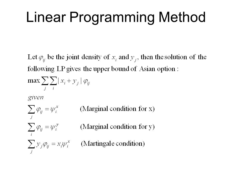 Linear Programming Method