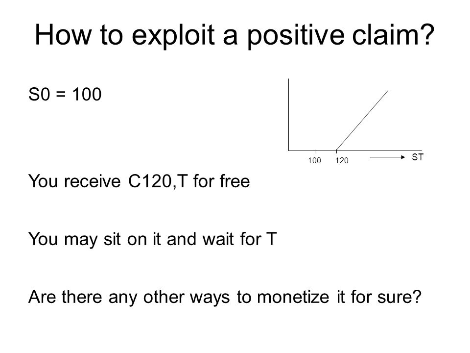 How to exploit a positive claim.