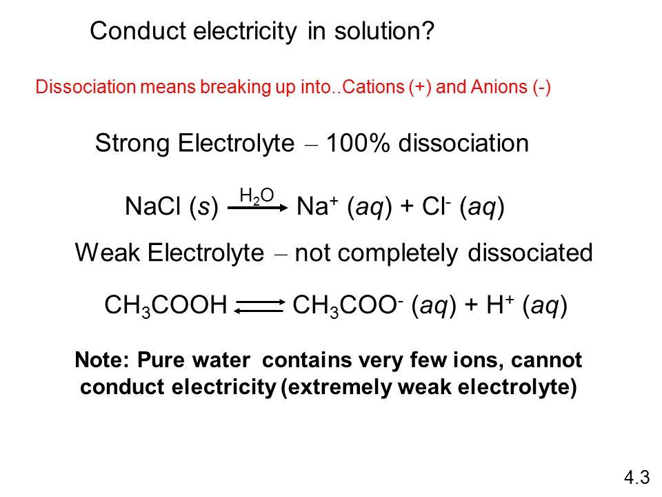 Neutralization Reaction acid + base salt + water HCl (aq) + NaOH (aq) NaCl (aq) + H 2 O H + + Cl - + Na + + OH - Na + + Cl - + H 2 O H + + OH - H 2 O 4.14