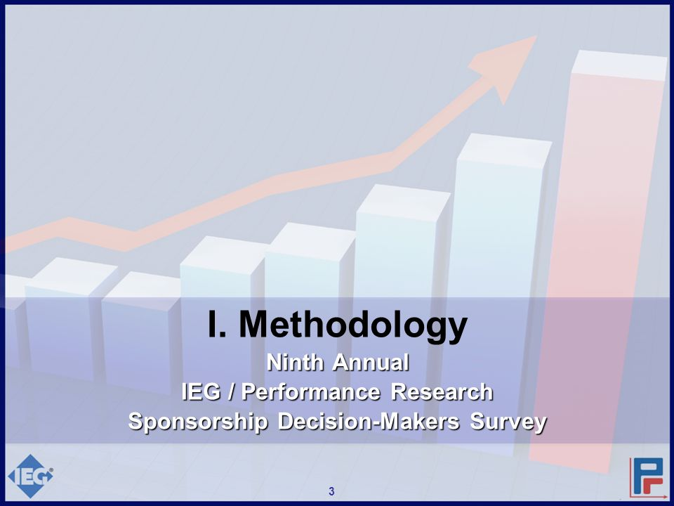 3 I. Methodology Ninth Annual IEG / Performance Research Sponsorship Decision-Makers Survey