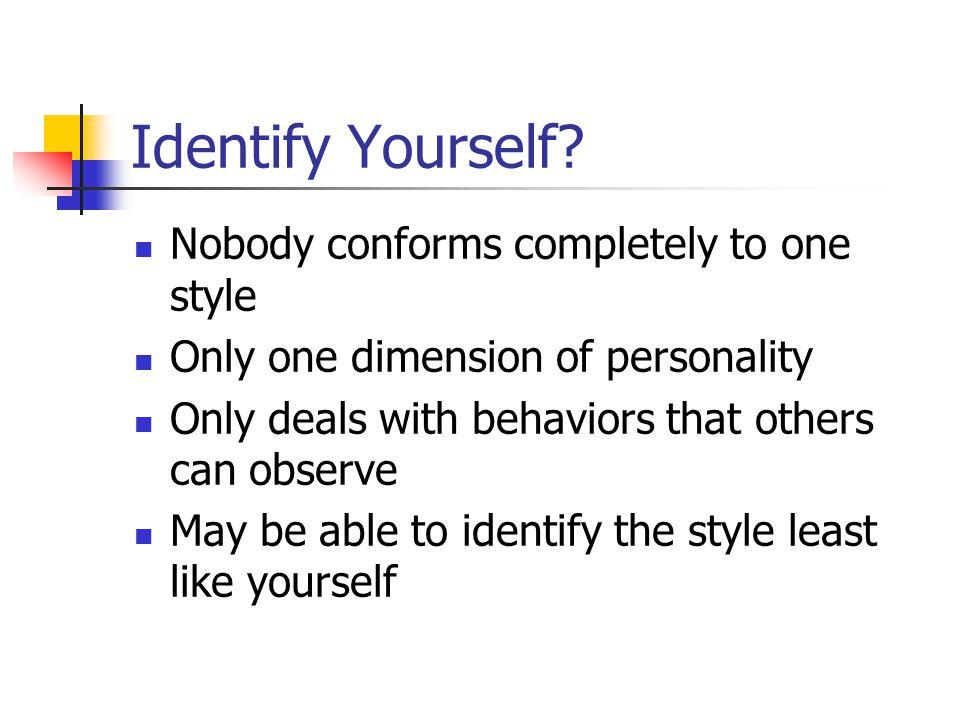 Identify Yourself.